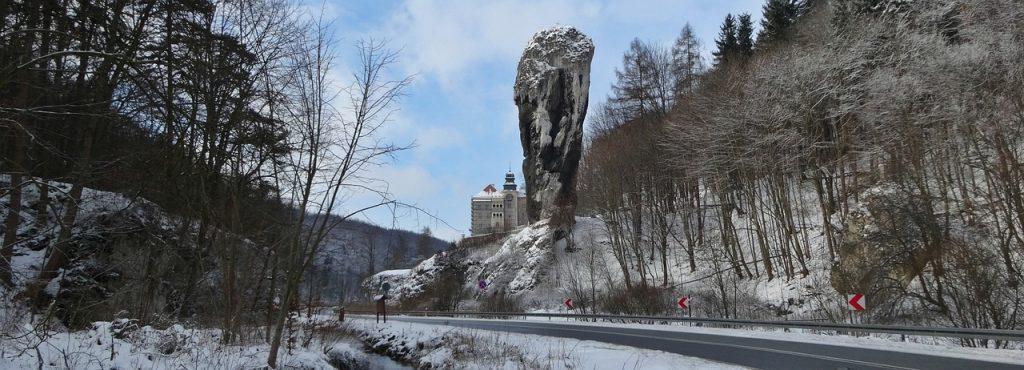 Zamek w Pieskowej Skale Zimą, Maczuga Herkulesa